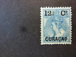 CURACAO, Année 1889-1902, YT N° 26 Neuf Sans Gomme, Petit Spot Aminci (cote 37,50 EUR) - Curacao, Netherlands Antilles, Aruba