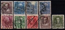Austria, Perfins, 9 Stamps - Austria