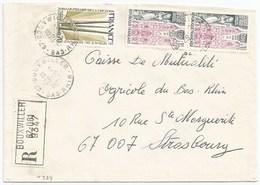 H389 - BAS RHIN - BOUXWILLER - 1975 - ROND Avec CODE POSTAL 67 - Recommandé - - Marcophilie (Lettres)