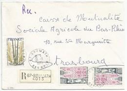 H391 - BAS RHIN - BRUMATH - 1975 - ROND Avec CODE POSTAL 67 - Recommandé - - Marcophilie (Lettres)