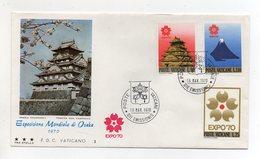 Vaticano - 1970 - Busta FDC 3 Stelle  - Esposizione Universale Di Osaka - Con Annulli - (FDC21213) - 1970 – Osaka (Japan)