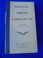 MANUEL DU GRADE DE L'ARMEE DE L'AIR 1947 - Aviation