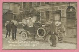 68 - MUNSTER - Carte Photo - Weinachtspost 14/18 - Voiture De La Feldpost Devant La Poste - Carte Réparée - Voir Scan - Munster