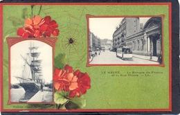 LE HAVRE - La Banque De France Et La Rue Thiers - Hafen