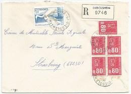 H399 - BAS RHIN - DIEBOLSHEIM - 1975 - ROND Avec CODE POSTAL 67 - Recommandé - - Marcophilie (Lettres)