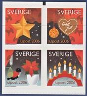 SVEZIA 2006 NATALE S.A.  UNIFICATO  N. 2539/42  MNH - Sweden