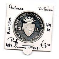 ANDORRA 20 DINERS 1984 PROOF ZILVER SUMMER OLYMPICS - Andorra