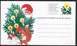 1991 Finland, Postal Letter, Santa Claus Mint - Postwaardestukken