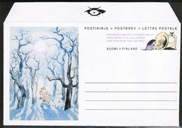 1992 Finland, Postal Letter, Moomins Mint - Postwaardestukken