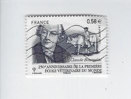 250ème Anniversaire De La Première école Vétérinaire Du Monde 4553 Oblitéré 2011 - Francia