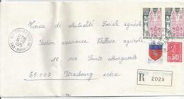 H409 - BAS RHIN - DRUSENHEIM - 1975 - ROND Avec CODE POSTAL 67 - Recommandé - - Marcophilie (Lettres)