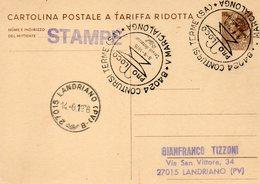 1976 CARTOLINA CON ANNULLO  CONTURSI TERME SALERNO - MARCIALONGA - 1946-.. République