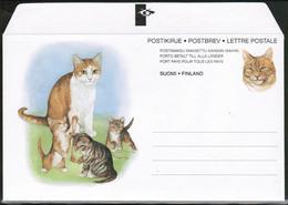 1994 Finland, Postal Letter, Cats Mint - Postwaardestukken