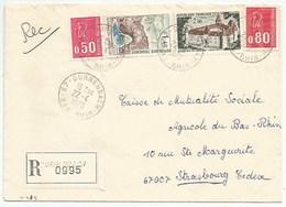 H412 - BAS RHIN - DURRENBACH - 1975 - ROND Avec CODE POSTAL 67 - Recommandé - - Marcophilie (Lettres)