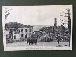 SAINT-JUVIN (Ardennes) La Mairie ( Offensive 1918) - Francia