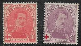 Belgium, 1914, Red Cross, 10c (+10c), 20c (+20), MH * - Unused Stamps