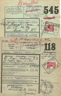 GOSSELIES 11 SEPT 39 & GILLY-HAIES 21 OCTO 39 Op Halve Spoorwegzegel - 1923-1941