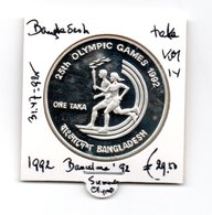 BANGLADESH TAKA 1992 ZILVER SUMMER OLYMPICS BARCELONA 1992 - Bangladesh