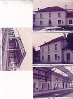 64 / PUYOO /  4 PHOTO VERITABLE  GARE 1981 - Andere Gemeenten