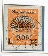 FIUME 1921 -SEGNATASSE  N° 17 USATO - Fiume