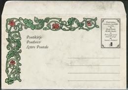 1997 Finland, Postal Letter, Red Roses Mint - Postwaardestukken