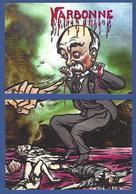 CPM Viticole Puzzle De 2 Cartes Tirage Limité 30 Ex Numérotés événements Viticoles 1907 Clemenceau Narbonne - Satirical