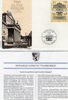 750 Jahre Berlin 1987 DDR 2619/0 FDC 5€ Spezial-Brief Scinkel Schauspiel-Haus Museum Architectur Cover GDR Germany - Cartas