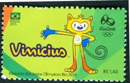 BRAZIL 2015  - MASCOT OLYMPIC GAMES RIO DE JANEIRO 2016  - VINICIUS  - MINT - Nuevos