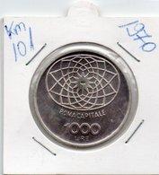 ITALIA- 1000 LIRE 1970  KM-101  FDC  ARGENTO - 1 000 Lire