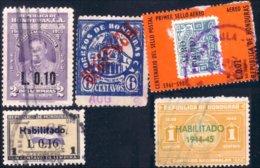 492 Honduras Surcharges Overprints (HND-33) - Honduras