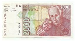 SPAIN - 2000 Pesetas - 24 De Abril 1992 - Jose Celestino Mutis - USED - [ 4] 1975-… : Juan Carlos I