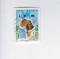 Cinquantenaire De Indépendances Africaines 4496 Oblitéré 2010 - Francia
