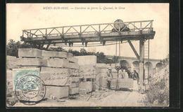 CPA Méry-sur-Oise, Carrières De Pierre L. Quesnel, La Grue - Non Classés