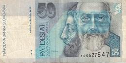50 KORUN SLOVENSKY BANKNOTE, Umlaufschein - Slowakei