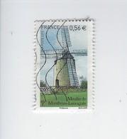 Les Moulins 4485 Oblitéré 2010 - Francia