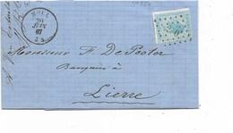 SH 0444. N° 18 Los Pts 250/MOLL 20 JUIN 67 S/LAC V. Lierre. TB - 1865-1866 Profile Left