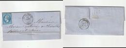 1866 N°22 Oblitéré GC 1044 La Clayette (Saone Et Loire)sur LAC (lot  318a) - 1862 Napoléon III