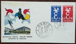 FDC 1958 - YT N°1173, 1174 - EUROPA - PARIS - FDC