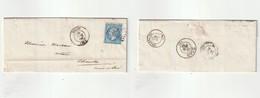 1966 N°22 Oblitéré GC 3942 Thizy (Rhone) Sur LAC (lot 317a) - 1862 Napoléon III