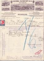 RECHNUNG (datiert Aussig 1913) Der Firma GEORG SCHICHT AG, Seifen, Kerzen, Kokosöl ..., Dok., 10 Heller Steuermarke, A3 - Autriche