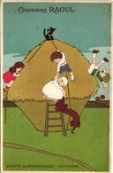 4 Postcards PUB Chaussures Raoul Dressed Mices RATS TECKEL  Illustrateur LithoLouis Théophile Hingre VG Art VG Sublime - Andere Illustrators