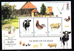 Nederland 2020, Persoonlijke Zegels: 25 Jaar Rien Poortvliet, Koe, Cow, Haan, Schaap, Sheep, Farm - Neufs