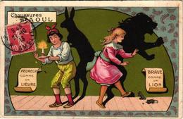 3 Postcards Advert. Chaussures Raoul Animal Shadows Proverbs  Litho Illustrateur LithoLouis Théophile Hingre VG Art - Andere Illustrators