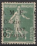 Cilicie 1920 N° 99 Sans Gomme Surcharge Déplacée à Cheval (G4) - Cilicien (1919-1921)