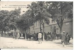 BOULEVARD ALSACE-LORRAINE. MARCHE AUX BOEUFS - Villefranche De Rouergue