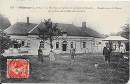 1911 - Millançay - La Favorite Au Centre De La Forêt De Bruadan - Rendez-vous De Chasse (cliché Avec Garde-chasse) - France