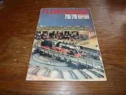 Catalogue Miniature Fleischman 78/79 Train électrique Circuit De Voiture - Unclassified