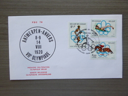 "BELG.1976 1800 1801 & 1802 FDC (Antwerpen) :    ""OLYMPIA MONTREAL 76 "" - FDC"