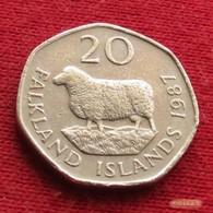 Falkland  Islands 20 Pence 1987 KM# 17 *V1 Malvinas Malwinen - Falkland