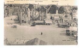 CPA Reims (51) REIMS Dans Les Ruines Après La Retraite Des Allemands Place Du Parvois Parvis Square Écrite En 1926 - Reims